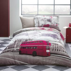 Постельное белье Tivolyo Home LONDON EYE хлопковый люкс-сатин 1,5 спальный