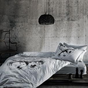 Постельное белье Tivolyo Home WOLF хлопковый люкс-сатин 1,5 спальный