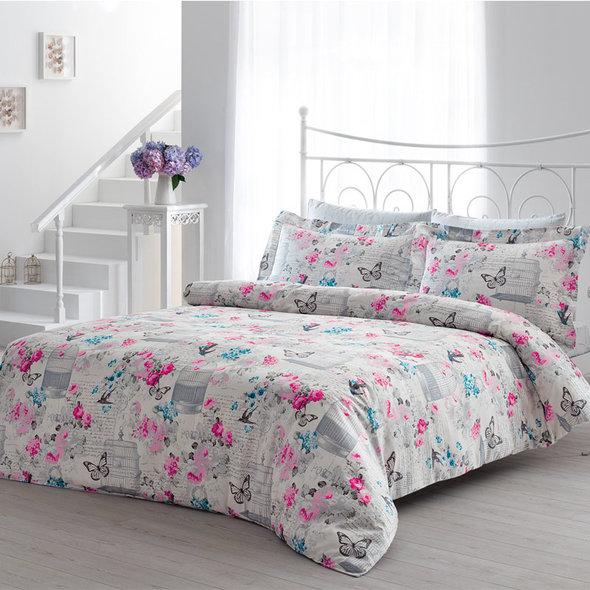 Комплект постельного белья Tivolyo Home SUMMER хлопковый люкс-сатин евро, фото, фотография