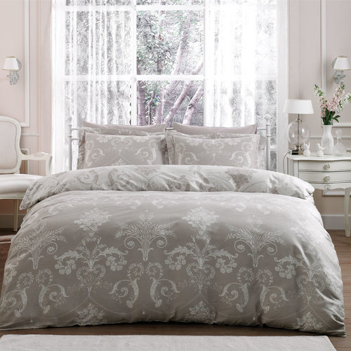 Постельное белье Tivolyo Home ARREDO хлопковый люкс-сатин бежевый евро-макси, фото, фотография