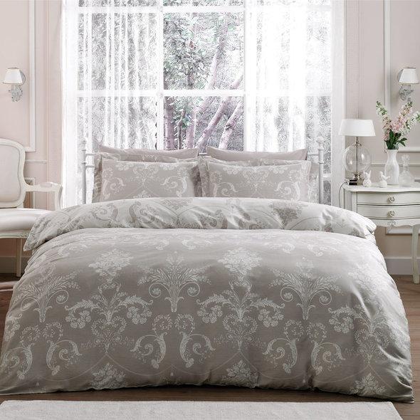 Комплект постельного белья Tivolyo Home ARREDO хлопковый люкс-сатин (бежевый) 1,5 спальный, фото, фотография