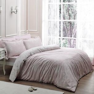 Постельное белье Tivolyo Home ARREDO хлопковый люкс-сатин розовый семейный