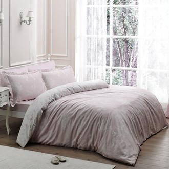 Постельное белье Tivolyo Home ARREDO хлопковый люкс-сатин розовый