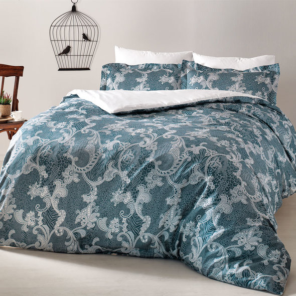 Комплект постельного белья Tivolyo Home PASSION хлопковый люкс-сатин евро, фото, фотография