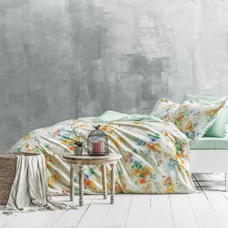 Комплект постельного белья Tivolyo Home DELUX GARDENIA хлопковый люкс-сатин