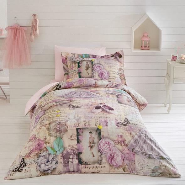 Постельное белье Tivolyo Home BALERIN хлопковый люкс-сатин 1,5 спальный, фото, фотография