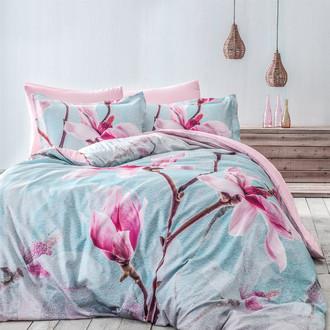 Комплект постельного белья Tivolyo Home DELUX ORCHIDEA хлопковый люкс-сатин (розовый)