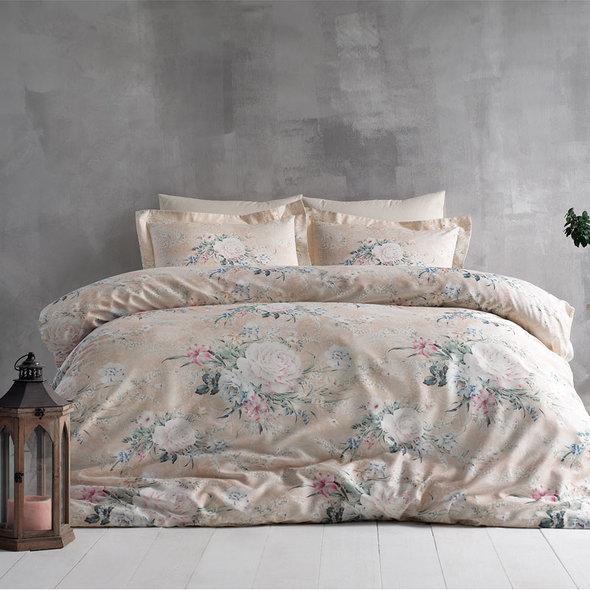 Постельное белье Tivolyo Home SANTA хлопковый люкс-сатин 1,5 спальный, фото, фотография