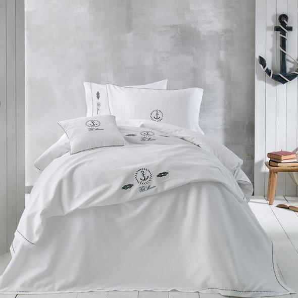 Постельное белье Tivolyo Home ANCORA хлопковый люкс-сатин 1,5 спальный, фото, фотография