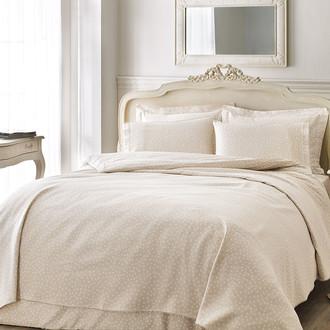 Комплект постельного белья Tivolyo Home PUNTO хлопковый люкс-сатин (бежевый)