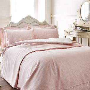 Постельное белье Tivolyo Home PUNTO хлопковый люкс-сатин розовый евро