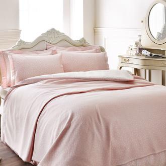 Постельное белье Tivolyo Home PUNTO хлопковый люкс-сатин розовый