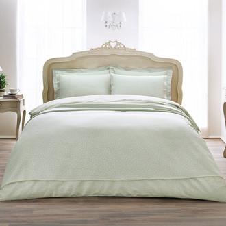 Комплект постельного белья Tivolyo Home PUNTO хлопковый люкс-сатин (бирюзовый)