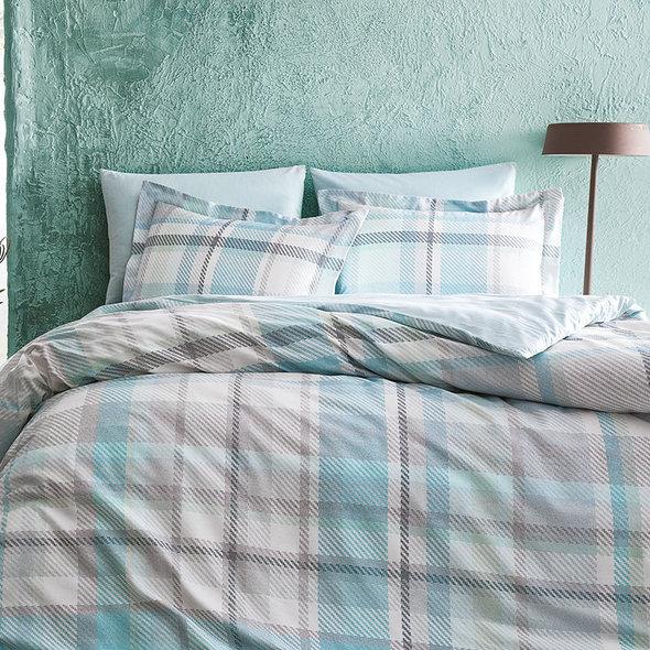 Комплект постельного белья Tivolyo Home SCOTCH хлопковый люкс-сатин семейный, фото, фотография