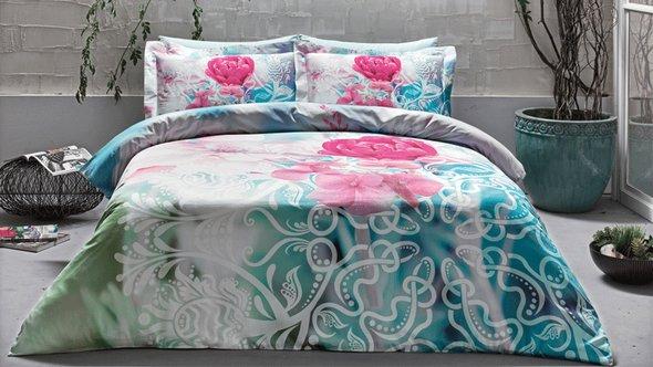 Комплект постельного белья Tivolyo Home SLEEPING BEAUTY хлопковый люкс-сатин евро, фото, фотография