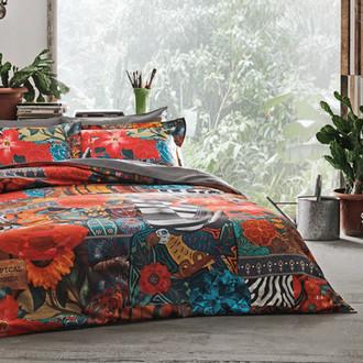 Комплект постельного белья Tivolyo Home INDIAN хлопковый люкс-сатин