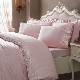 Комплект постельного белья Tivolyo Home ELEGANT хлопковый сатин (пудра)
