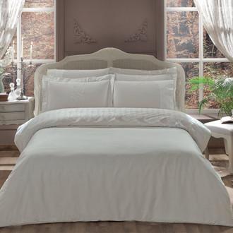 Комплект постельного белья Tivolyo Home CAMEO хлопковый сатин (кремовый)