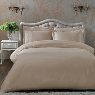 Комплект постельного белья Tivolyo Home CAMEO хлопковый сатин (бежевый)