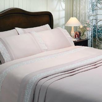 Комплект постельного белья Tivolyo Home ZILERI хлопковый сатин (розовый)