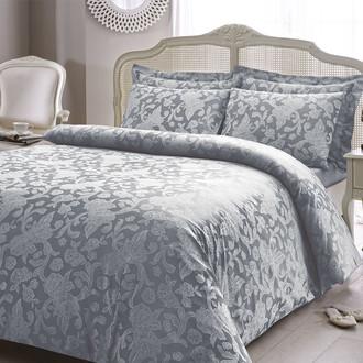 Комплект постельного белья Tivolyo Home AMELFI бамбуковый сатин-жаккард (серый)