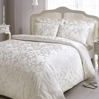 Комплект постельного белья Tivolyo Home AMELFI бамбуковый сатин-жаккард (белый)
