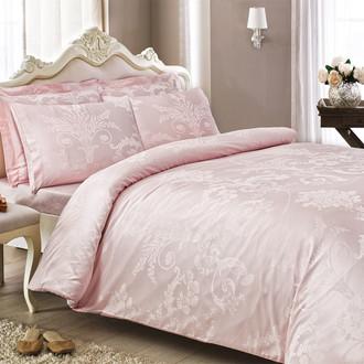 Постельное белье Tivolyo Home ARREDO бамбуковый сатин-жаккард розовый