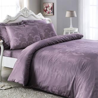 Комплект постельного белья Tivolyo Home ARREDO бамбуковый сатин-жаккард (фиолетовый)