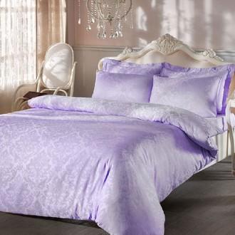 Комплект постельного белья Tivolyo Home BAMBURA бамбуковый сатин-жаккард (лиловый)