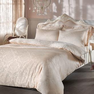 Комплект постельного белья Tivolyo Home BAMBURA бамбуковый сатин-жаккард (бежевый)