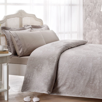 Комплект постельного белья Tivolyo Home CROCODILE бамбуковый сатин-жаккард (бежевый)