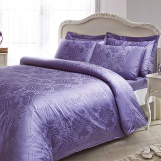 Комплект постельного белья Tivolyo Home PRINCESS бамбуковый сатин-жаккард (лиловый)