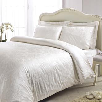 Комплект постельного белья Tivolyo Home PRINCESS бамбуковый сатин-жаккард (кремовый)
