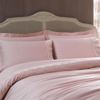 Комплект постельного белья Tivolyo Home DIAMANT хлопковый сатин (пудра)