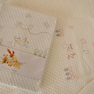 Плед детский для новорожденных Tivolyo Home STORK хлопок (голубой)