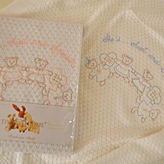 Плед детский для новорожденных Tivolyo Home FAMILY хлопок (голубой)