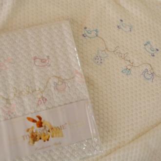 Плед детский для новорожденных Tivolyo Home COUPLE хлопок (голубой)