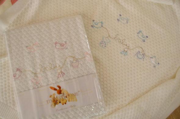 Плед детский для новорожденных Tivolyo Home COUPLE хлопок (розовый) 85*90, фото, фотография