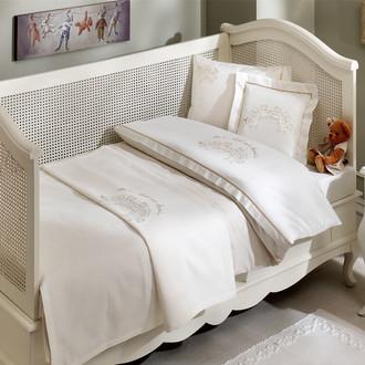 Комплект детского постельного белья в кроватку Tivolyo Home FAMILY BEBE хлопковый сатин (бежевый)