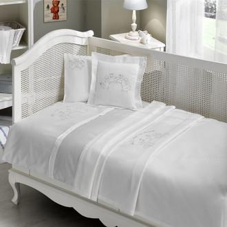 Комплект детского постельного белья в кроватку Tivolyo Home FAMILY BEBE хлопковый сатин (голубой)