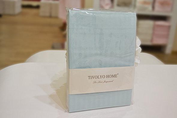 Набор наволочек 2 шт. Tivolyo Home JAQUARD хлопковый сатин deluxe бирюзовый 50*70, фото, фотография