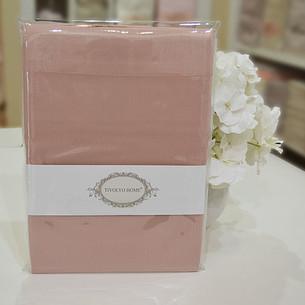 Набор наволочек 2 шт. Tivolyo Home хлопковый сатин делюкс тёмно-розовый 50х70