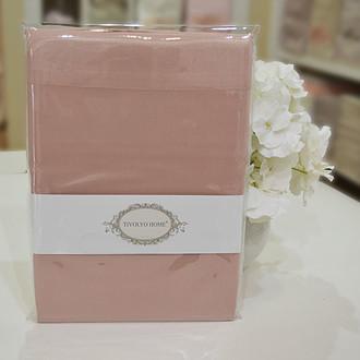 Набор наволочек 2 шт. Tivolyo Home хлопковый сатин deluxe (тёмно-розовый)