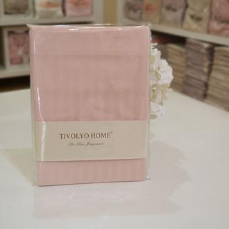 Набор наволочек 2 шт. Tivolyo Home JAQUARD хлопковый сатин (розовый)