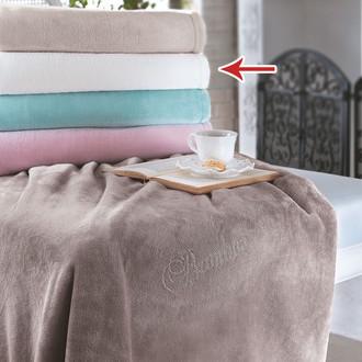Плед-покрывало Tivolyo Home SOFT CRYSTAL велсофт (кремовый)