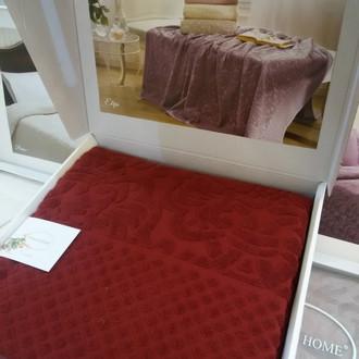 Махровая простынь-покрывало для укрывания Tivolyo Home ELIPS хлопок бордовый
