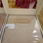 Махровая простынь-покрывало для укрывания Tivolyo Home ELIPS хлопок бежевый 160х220, фото, фотография