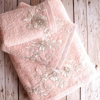 Полотенце банное в подарочной упаковке Irya BELOVED махра хлопок абрикосовый