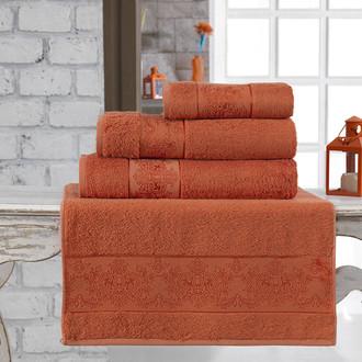 Полотенце для ванной Karna PANDORA бамбуковая махра кирпичный