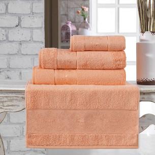 Полотенце для ванной Karna PANDORA бамбуковая махра коралловый 90х150